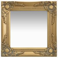 "vidaXL Wall Mirror Baroque Style 15.7""x15.7"" Gold"