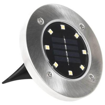 vidaXL Solar Ground Lights 8 pcs LED Lights White