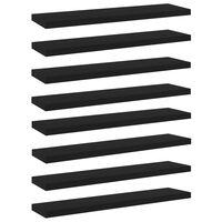 """vidaXL Bookshelf Boards 8 pcs Black 15.7""""x3.9""""x0.6"""" Chipboard"""