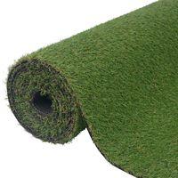 """vidaXL Artificial Grass 3.3'x49.2'/0.8""""-1"""" Green"""