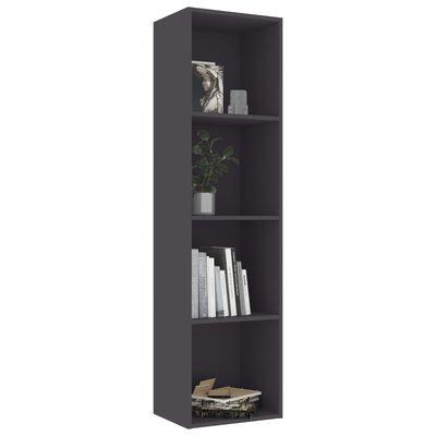 "vidaXL Book Cabinet Gray 15.7""x11.8""x59.6"" Chipboard"