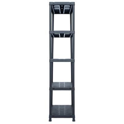 "vidaXL Storage Shelf Rack Black 1102.3 lb 35.4""x23.6""x70.9"" Plastic"