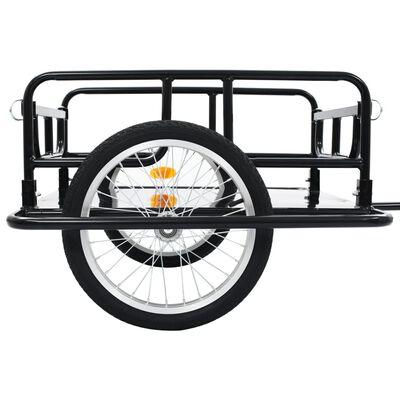 "vidaXL Bike Cargo Trailer 51.2""x28.7""x19.7"" Steel Black"