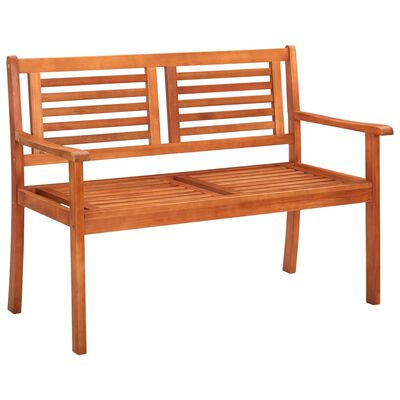 "vidaXL 2-Seater Garden Bench 47.2"" Solid Eucalyptus Wood"