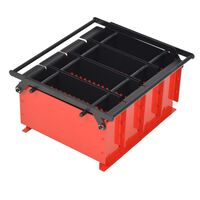 "vidaXL Paper Log Briquette Maker Steel 15""x12.2""x7.1"" Black and Red"