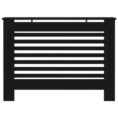 "vidaXL Radiator Cover Black 44.1""x7.5""x31.9"" MDF"