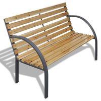 "vidaXL Garden Bench 47.2"" Wood and Iron"