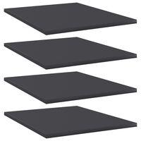 """vidaXL Bookshelf Boards 4 pcs Gray 15.7""""x19.7""""x0.6"""" Chipboard"""