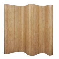 """vidaXL Room Divider Bamboo Natural 98.4""""x65"""""""