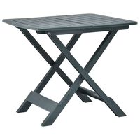 "vidaXL Folding Garden Table Green 31.1""x28.3""x27.6"" Plastic"