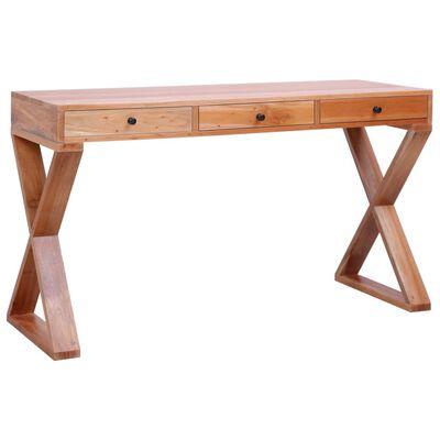 """vidaXL Computer Desk Natural 52""""x18.5""""x30.3"""" Solid Mahogany Wood"""