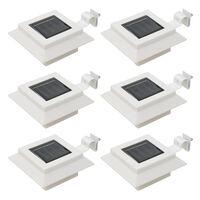 """vidaXL Outdoor Solar Lamps 6 pcs LED Square 4.7"""" White"""