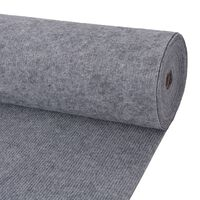 "vidaXL Exhibition Carpet Rib 78.7""x393.7"" Gray"