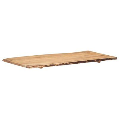 """vidaXL Table Top Solid Acacia Wood 47.2""""x(19.7""""-23.6"""")x1"""""""