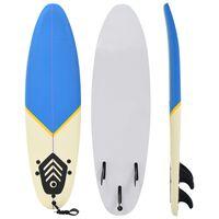 "vidaXL Surfboard 66.9"" Blue and Cream"