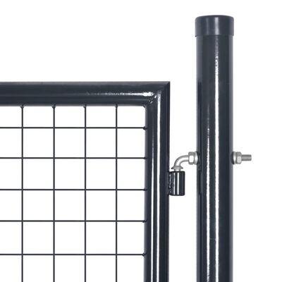 """vidaXL Mesh Garden Gate Galvanised Steel 33.7""""x39.4"""" Gray"""