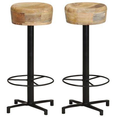 """vidaXL Bar Stools 2 pcs 30"""" Solid Mango Wood"""