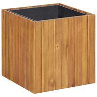 "vidaXL Garden Raised Bed Pot 17.1""x17.1""x17.3"" Solid Acacia Wood"