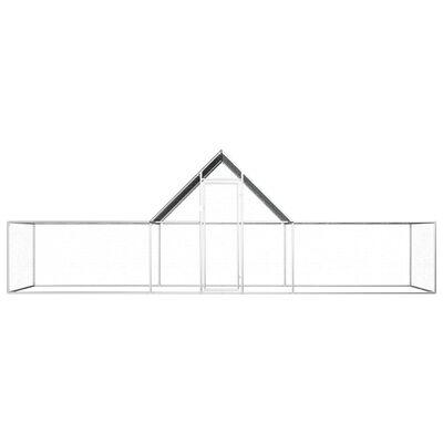 vidaXL Chicken Coop 19.7'x6.6'x6.6' Galvanized Steel