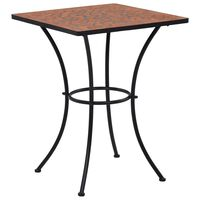 "vidaXL Mosaic Bistro Table Terracotta 23.6"" Ceramic"