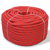 "vidaXL Marine Rope Polypropylene 0.39"" 1968.5"" Red"