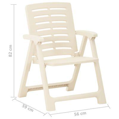 vidaXL Garden Chairs 2 pcs Plastic White