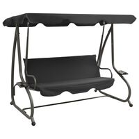 vidaXL Outdoor Swing Bench with Canopy Anthracite