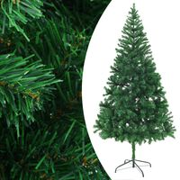 """vidaXL Artificial Christmas Tree with Steel Stand 82.7"""" 910 Branches"""
