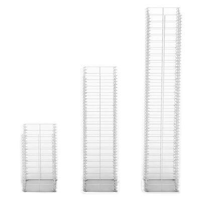 vidaXL 3 Piece Gabion Set Galvanized Wire