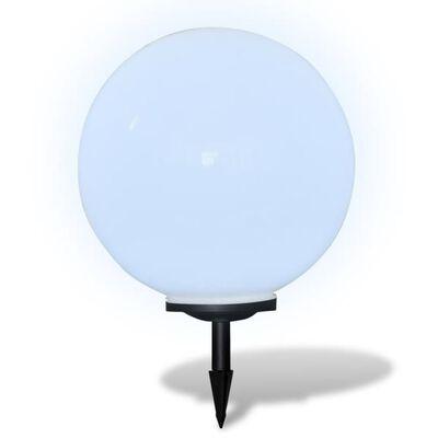 "vidaXL Outdoor Path Garden Solar Lamp Solar Ball Light LED 19.7"" 1pcs with Ground Spike"