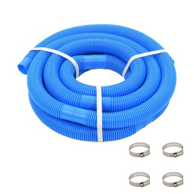 """vidaXL Pool Hose with Clamps Blue 1.4"""" 19.6'"""