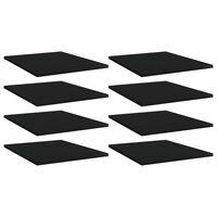 """vidaXL Bookshelf Boards 8 pcs Black 15.7""""x19.7""""x0.6"""" Chipboard"""