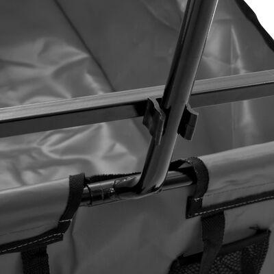 vidaXL Folding Hand Trolley Steel Gray