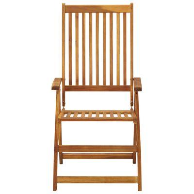 vidaXL Folding Garden Chairs 6 pcs with Cushions Solid Acacia Wood