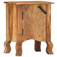 """vidaXL Bedside Cabinet 15.7""""x11.8""""x19.7"""" Solid Sheesham Wood"""