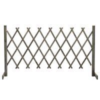 "vidaXL Garden Trellis Fence Gray 59.1""x31.5"" Solid Firwood"