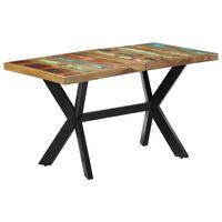 "vidaXL Dining Table 55.1""x27.6""x29.5"" Solid Reclaimed Wood"