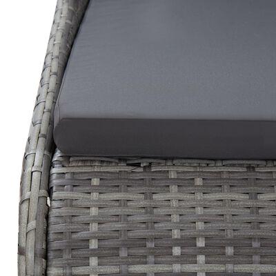 "vidaXL Garden Bed Gray 78.7""x54.7"" Poly Rattan"