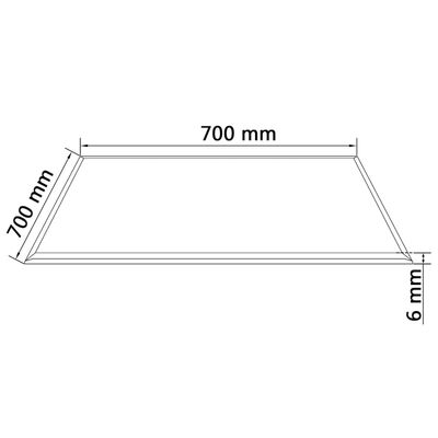 """vidaXL Table Top Tempered Glass Square 27.6""""x27.6"""""""
