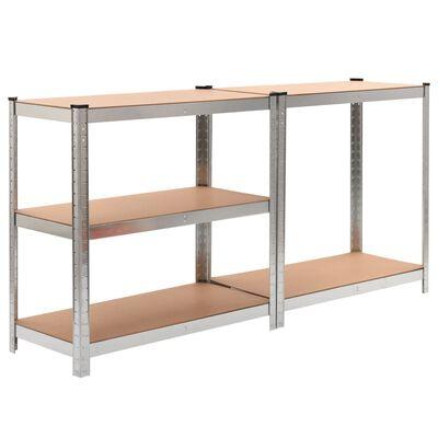 """vidaXL Storage Shelves 2 pcs 35.4""""x15.7""""x70.9"""" MDF"""