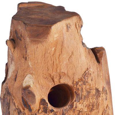 "vidaXL Wine Rack for 8 Bottles 15.7""x11.8""x31.5"" Solid Teak Wood"