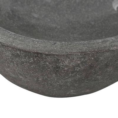 "vidaXL Wash Basin River Stone Oval 23.6""-27.6"""
