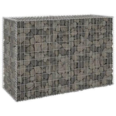 "vidaXL Gabion Wall with Covers Galvanized Steel 59.1""x23.6""x39.4"""