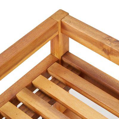 """vidaXL 5-Tier Shoe Rack 25.1""""x10.2""""x31.4"""" Solid Acacia Wood"""