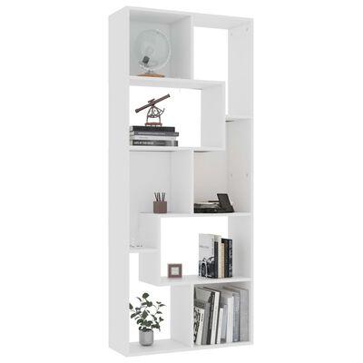 "vidaXL Book Cabinet White 26.4""x9.4""x63.4"" Chipboard"