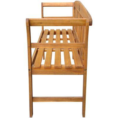"vidaXL Garden Bench with Cushion 61.8"" Solid Acacia Wood"