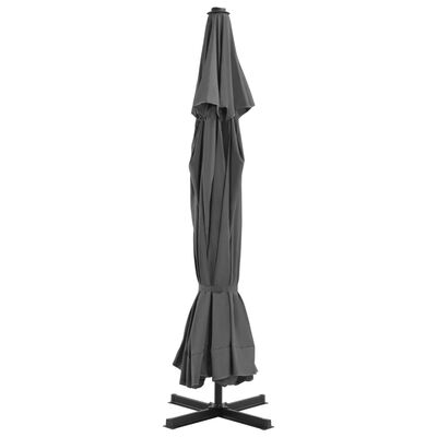 "vidaXL Outdoor Parasol with Aluminum Pole 196.9"" Anthracite"