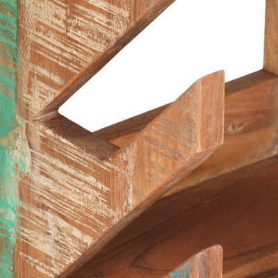 """vidaXL Wall Mounted Skateboard Holder 9.8""""x7.9""""x11.8"""" Solid Reclaimed Wood"""