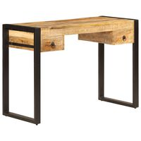 "vidaXL Desk with 2 Drawers 43.3""x19.7""x30.3"" Solid Mango Wood"