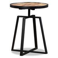 vidaXL Side Table Round Solid Reclaimed Teak